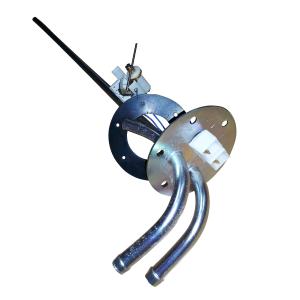 aforador de gasoil con tubos de aspiracion y retorno de metal