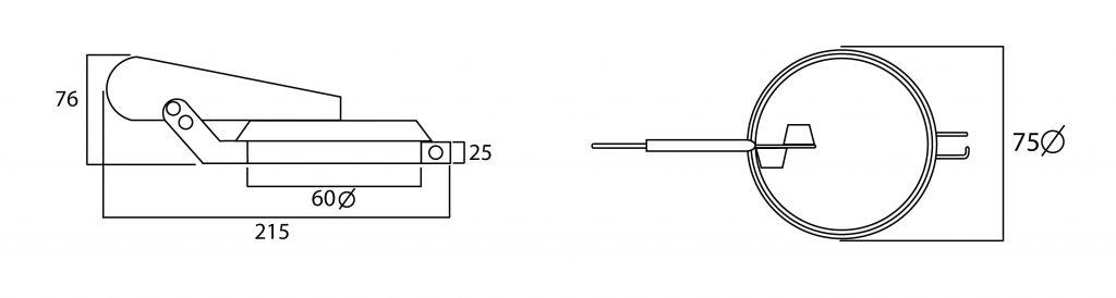 clapeta antilluvia de los motores de los grupos electrogenos