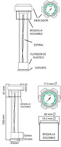 indicador de combustible que mide el nivel de los depositos