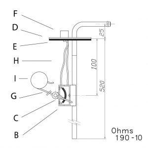interruptor de nivel de tipo boya compatible con relojes VDO