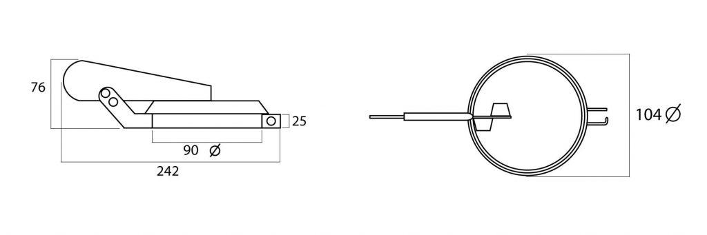 valvula antilluvia que protege los tubos de escape