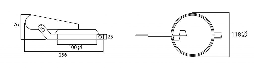 Valvula antilluvia que permite la proteccion de los generadores