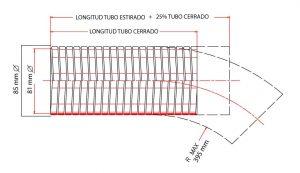 flexible para tubos de escape de metal