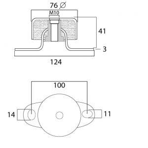 silemblock de metal para motores