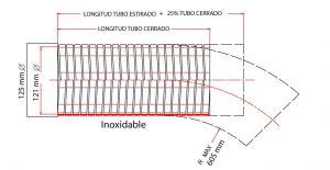 tubo flexible para gases de escape