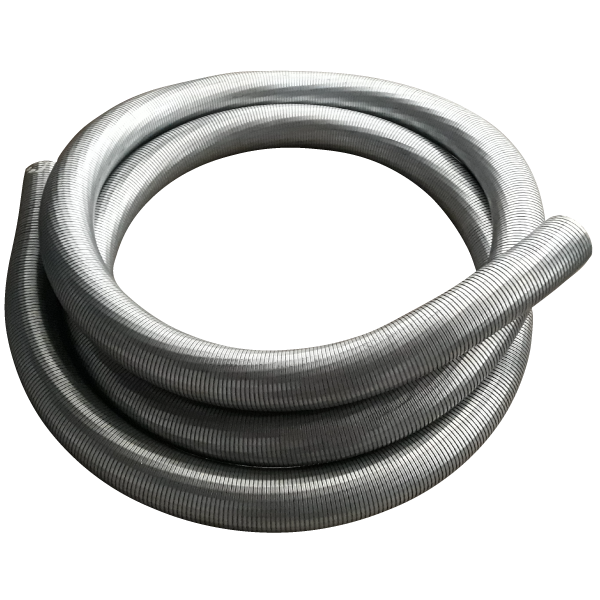 Tubo metalico flexible para escapes