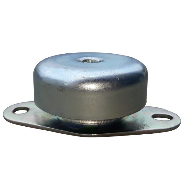 Soporte metalico que silencia el sonido de motores de vehiculos