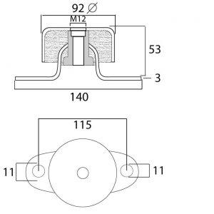 soporte silentblock para motores