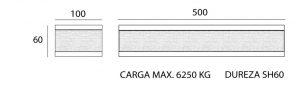 soportes antivibratorios con una carga maxima de 6250 kg