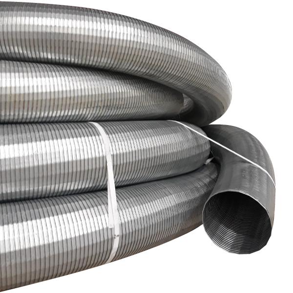 Tubo metalico flexible para escapes