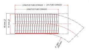 manguera flexible para tubos de escape de motores