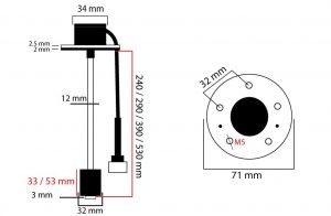 interruptor nivel de agua tipo flotador