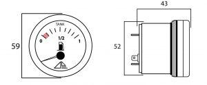 reloj combustible deposito